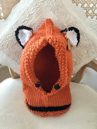 Fox Cowl Knitted Hat