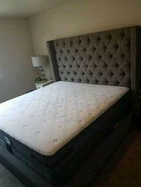 King size matress/frame Alexandria, 22304