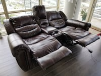Leather Recliner with Theater Seating MCLEAN