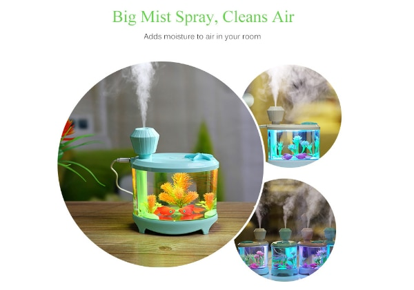 Fish Tank Humidifier Aromatherapy with LED Light