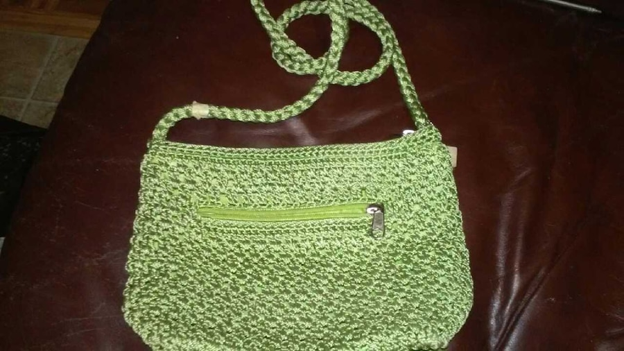 ... Guadalupe Fashion and Accessories Womens Green Knitted Sling Bag
