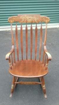 L. Hitchcock Solid Maple Rocking Chair