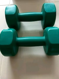 two green fixed weight dumbbells Red Lion, 17356