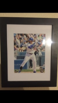 Baseball player photo in black frame Bellflower, 90706