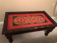 Hand-Painted Afghan Coffee Table SILVERSPRING