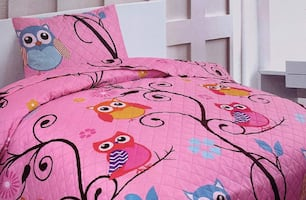 Kids Bedspread Coverlet Quilt Set (TWIN SIZE $16)