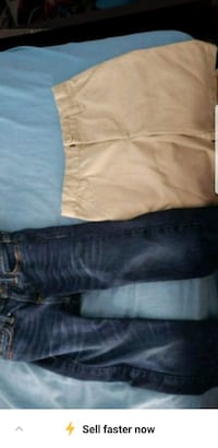 two blue and brown jeans Brownsville, 78521
