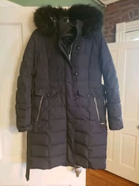 lands end womens down jacket with faux fur hood Me Falls Church, 22046