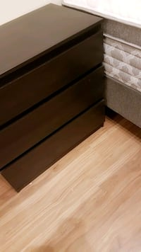 brown wooden 3-drawer chest Vancouver, V6B