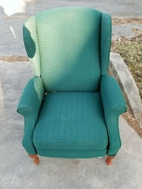 green fabric padded wing chair Catonsville, 21228
