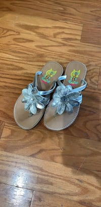 pair of gray-and-brown leather sandals Columbia, 29209