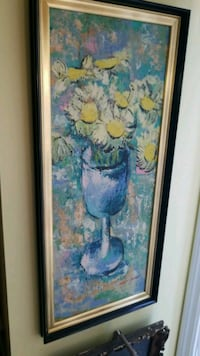 brown wooden framed painting of flowers Montreal, H3R 3L4