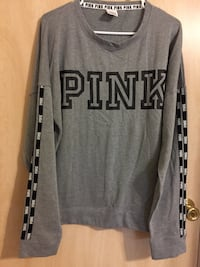 VS PINK 2pc set. Sweatshirt and jogging pants. Color Grey, Size Large. Brand New.  Murrells Inlet, 29576