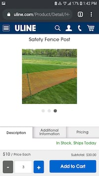 (1) Brand NEW 4x100ft construction fencing