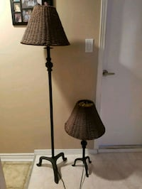 two black wrought iron lamps  Richmond, V6X 1L7