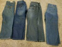 two blue and black denim jeans Mound House, 89706