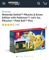 Nintendo Switch - Pikachu & Eevee Edition with Pok Burnaby, V5B 2C2