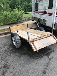 Brown utility trailer base/frame Chantilly, 20151