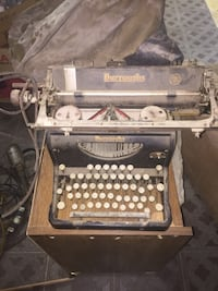 Black and brown burroughs vintage typewriter