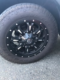 black 5-spoke car wheel with tire Vancouver, V5R 5E3