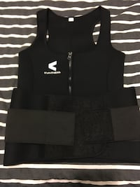Black fitness heat band with attached waist trainer Houston, 77042