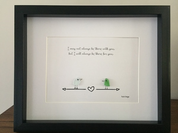 Beautiful Friendship Sea Glass Frame