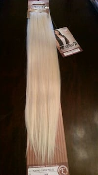 "Blonde- 32 "" length  hair extensions"