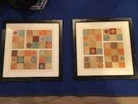Two brown-orange-grey abstract paintings Chelmsford, 01824