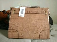 brown crocodile-leather handbag Pflugerville, 78660