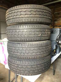 4 like new tires P235/75/R-15 Low miles on them Saint Cloud, 56303