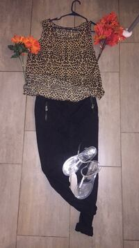 Black joggers-$15 top-$15 shoes-20 all together-$50