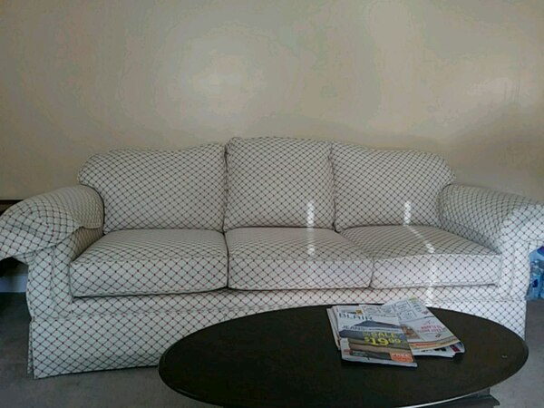 Sensational Gray And White Fabric Sectional Sofa Ibusinesslaw Wood Chair Design Ideas Ibusinesslaworg