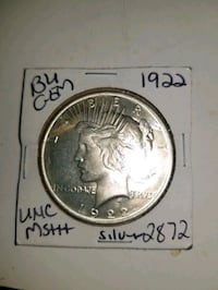 uncirculated 1922 peace dollar West Valley City, 84119