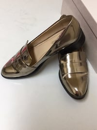Pair of brown leather pointed-toe heeled shoes, negotiable price  Toronto, M9M 2W2