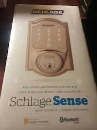 Brand new schlage sense smart deadbolt