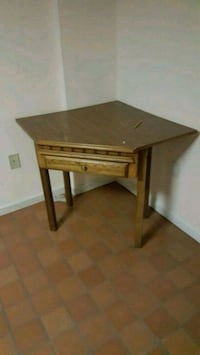 brown wooden single drawer side table Fort Washington, 20744