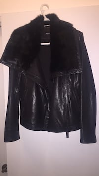black leather zip-up jacket Toronto, M6G