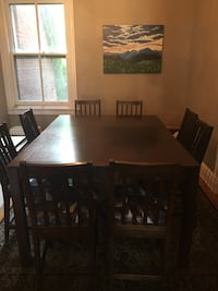 Dining Room Table - rectangular wooden tall table with eight chairs Richmond, 23220