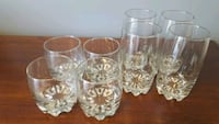 clear cut glass pitcher and drinking glasses Ottawa, K1R