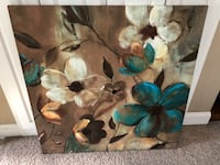 brown and blue flower painting Graham, 27253