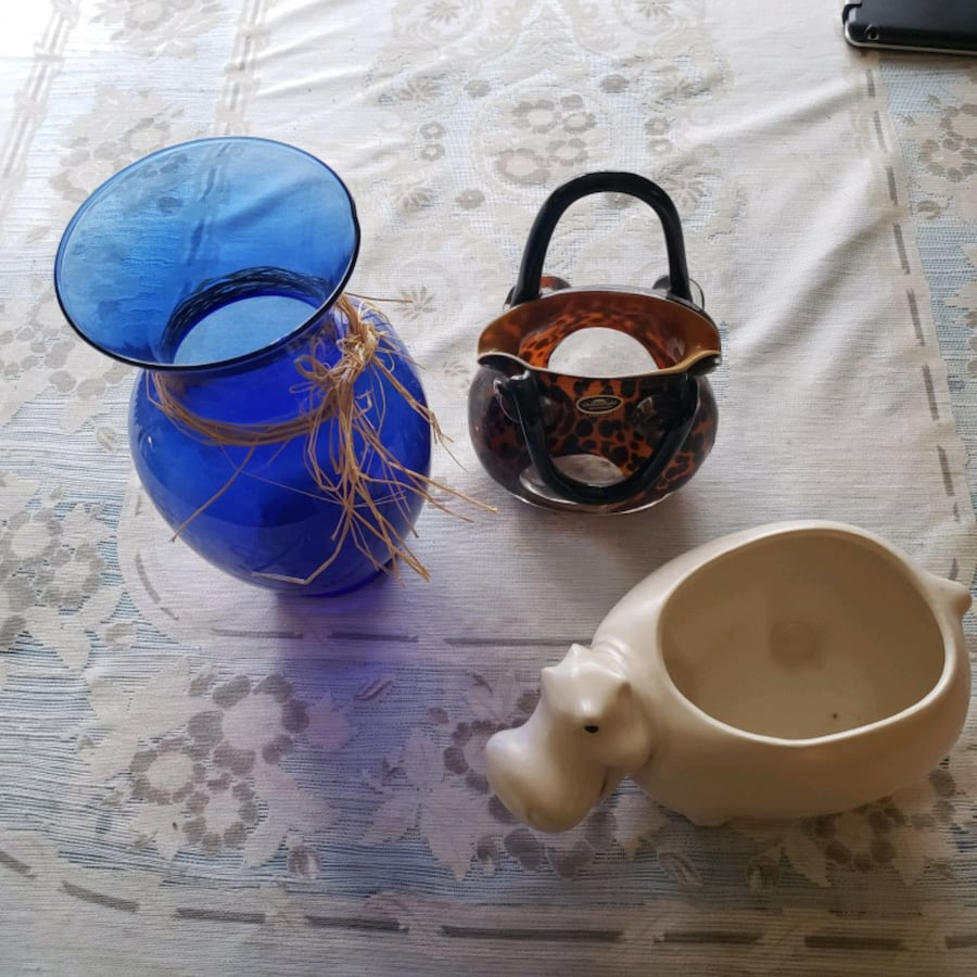 Vases  and candle holder purse