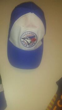 white and blue fitted cap Edmonton, T5Y