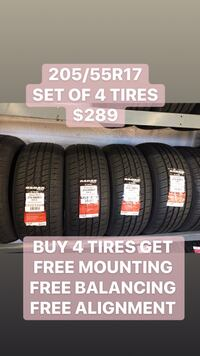 205/55R17 SET OF 4 TIRES ON SAE  Danville, 94526