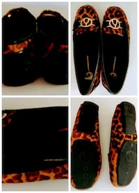 Leopard leather flat - size 7. Pick up downtown