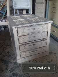 white and brown wooden 4-drawer chest Raleigh, 27612