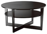 Black-brown round coffee table Sunnyvale, 94087