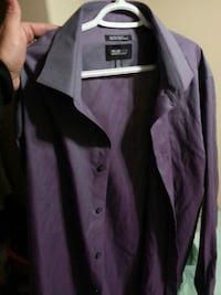 purple and black button-up long-sleeved shirt Blackfalds, T0M 0J0