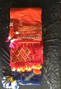 red and yellow floral textile Mississauga, L5A 3S2
