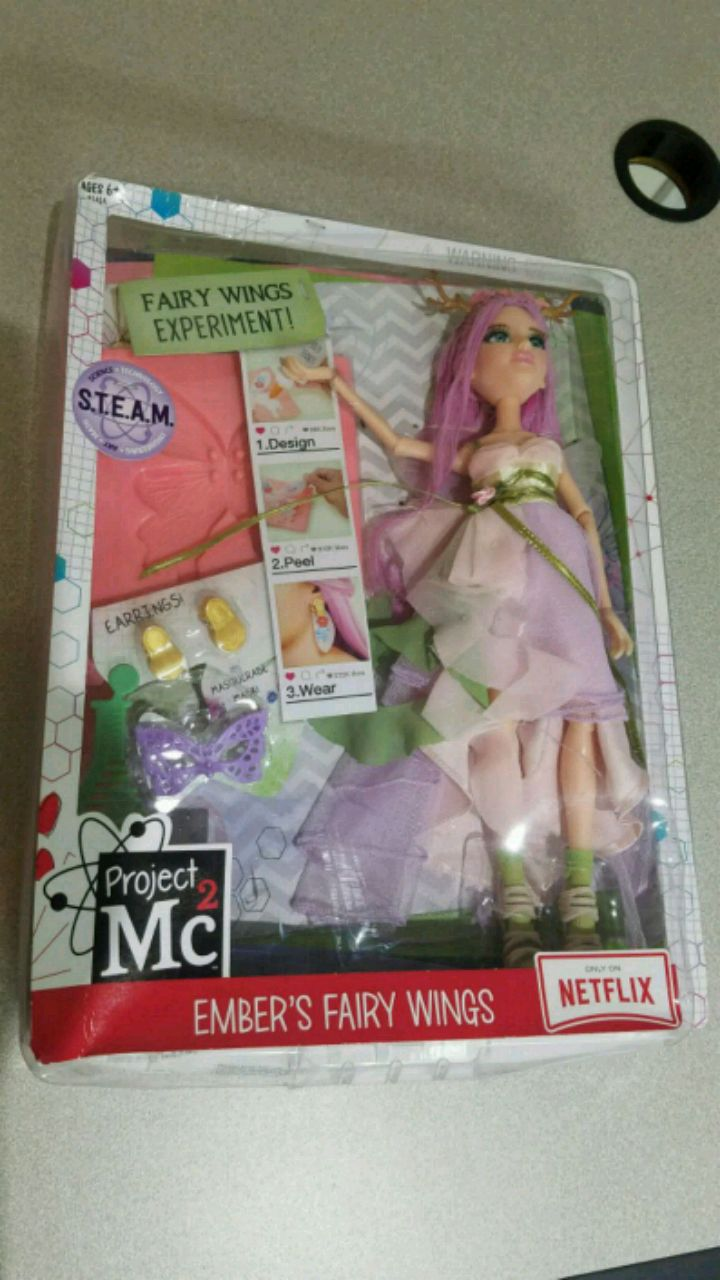 New Project Mc2 Ember/'s Fairy Wings Experiment /& Doll Set w// Earrings Official