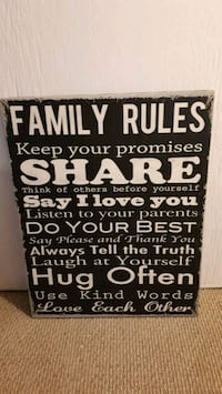 Family Rules Canvas Wall Art Brampton, L6W 1Z3